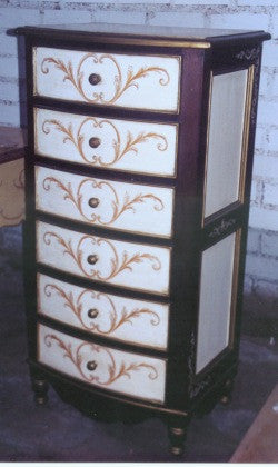 Bow Lingerie Chest, Italian Scrolls