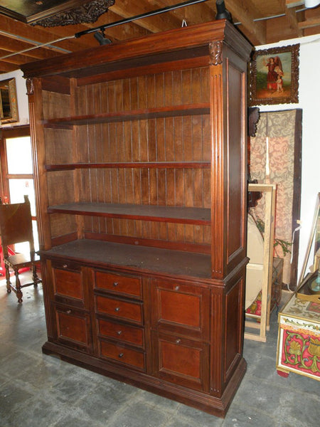 Leather Bookcase With File Drawers Mediterranean Home