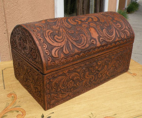 Hand Tooled Leather Box