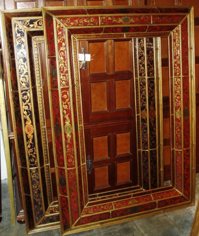 reverse painted glass mirror made in Peru 48 x 68
