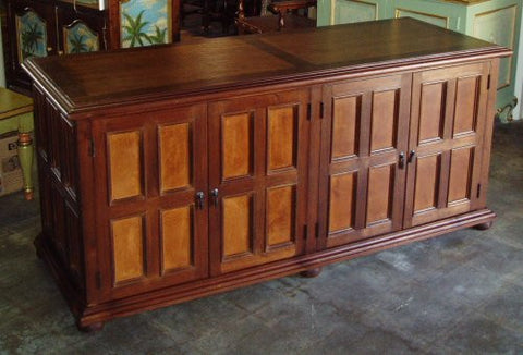 Leather Media Credenza