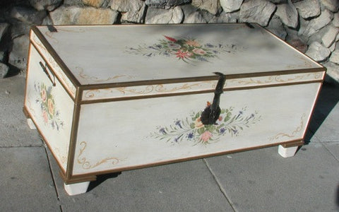Hand Painted - Mixed Floral Trunk