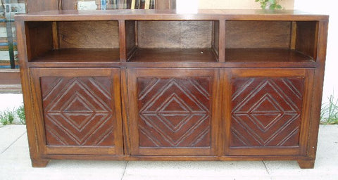 Leather Media Credenza Nazca