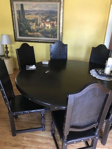 "Patagonia 72"" round Dining Table - Made in Peru"