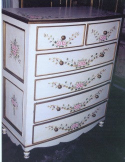 Bow Dresser, Pink Roses and Ribbon