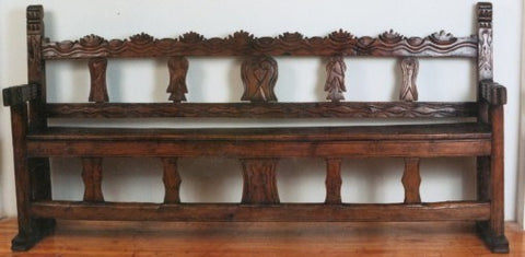 Portales Bench, Hacienda Style bench