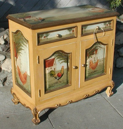Painted Buffet with Roosters