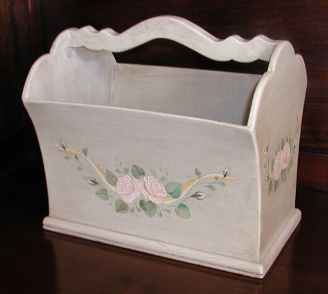 Magazine Rack, Roses Ribbon