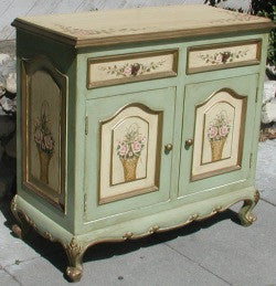 Painted Buffet, Rose and Basket