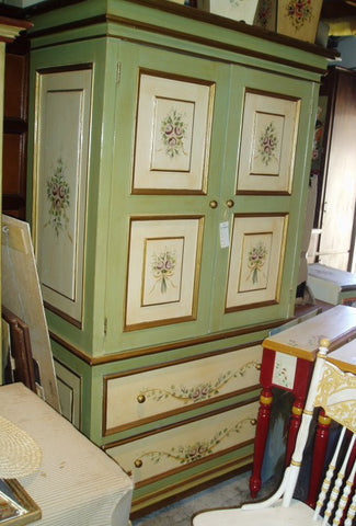 French Purple Rose Armoire