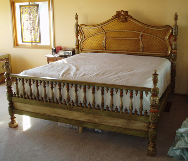 Sevilla Bed King Hand Painted Old World Spanish Bed R