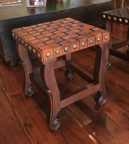 Spanish Colonial Stool - Chestnut