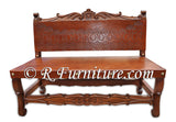 Frair Leather Bench