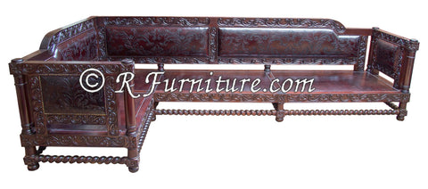 Spanish Mediterranean Revival Sofa