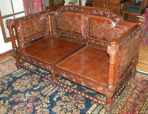 Spanish Revival Sofa - chestnut