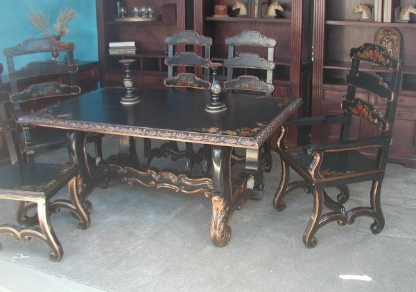 Tuscan fruit dining table r furniture by olinda romani for R furniture canoga park