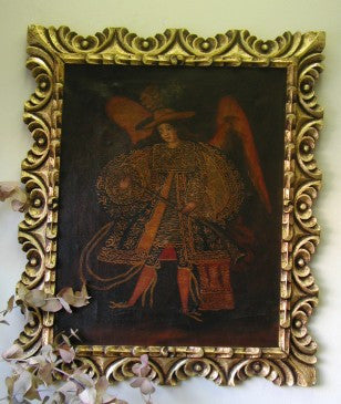 Archangel Michael with Sword - Made in Peru