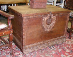 Spanish Colonial Trunk, Rustic Spanish Hacienda Trunk