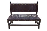 spanish colonial leather bench