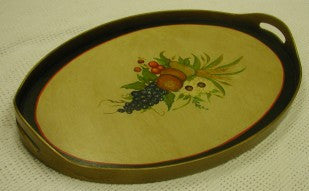 Tray, oval with fruit1