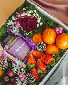 A Rose or Two (Festive Edition) - A Body Scrub & Fruit Gift Box | make hay, sunshine!.