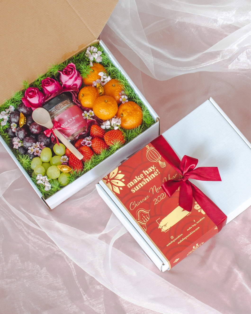 A Rose or Two (CNY Edition) - A Body Scrub & Fruit Gift Box | make hay, sunshine!.