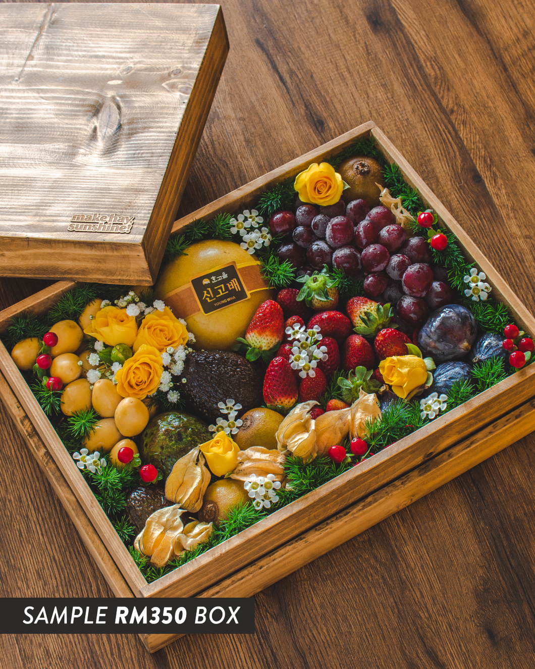 Fruit & Bark - A Premium Keepsake Wooden Gift Box