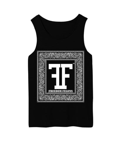 Black bandanna Tank top