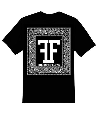 Black Bandana T - Freedom Felons. This is the Black bandana T #Shirt by #FreedomFelons #AntiEstablishment #Urban #Street #mma #Skate #Tattoo #Music #Hiphop #Celebrity #Trending #Cali #Nyc #Represent #Major #music #Worldwide #Global #Original #Brand #WouldYouBeAFelonForYourFreedom