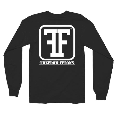 Black FF logo T long sleeve