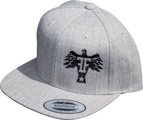 Light grey eagle snapback - Freedom Felons.  #FreedomFelons #AntiEstablishment #Urban #Street #major #Music #Celebrity #trending #cali #nyc #worldwide #represent #young #crooks #famous #world #streetwear #hiphop #fashion #Skate #Sports #Lifestyle #Original #Brand #WorldWide #WouldYouBeAFelonForYourFreedom