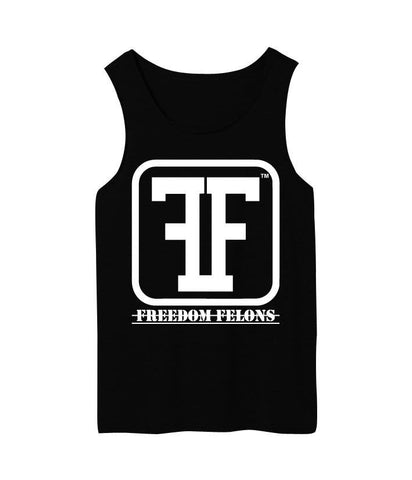 Guys white on black #logo #Tank Top - Freedom Felons.  #FreedomFelons #AntiEstablishment #Urban #Street #major #Music #Celebrity #trending #cali #nyc #worldwide #represent #young #crooks #famous #world #streetwear #hiphop #fashion #Skate #Sports #Lifestyle #Original #Brand #WorldWide #WouldYouBeAFelonForYourFreedom