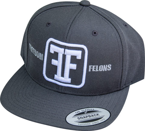 White on Grey Freedom Felons hat - Freedom Felons.  #FreedomFelons #AntiEstablishment #Urban #Street #major #Music #Celebrity #trending #cali #nyc #worldwide #represent #young #crooks #famous #world #streetwear #hiphop #fashion #Skate #Sports #Lifestyle #Original #Brand #WorldWide #WouldYouBeAFelonForYourFreedom