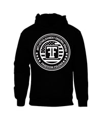 This is the #American circle #Black  #Hooded #Sweatshirt  by #FreedomFelons #AntiEstablishment #Urban #Street #major #Music #Celebrity #trending #cali #nyc #worldwide #represent #young #crooks #famous #world #streetwear #hiphop #fashion #Skate #Sports #Lifestyle #Original #Brand #WorldWide #WouldYouBeAFelonForYourFreedom