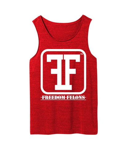 Red FF logo tanks - Freedom Felons.  #FreedomFelons #AntiEstablishment #Urban #Street #major #Music #Celebrity #trending #cali #nyc #worldwide #represent #young #crooks #famous #world #streetwear #hiphop #fashion #Skate #Sports #Lifestyle #Original #Brand #WorldWide #WouldYouBeAFelonForYourFreedom