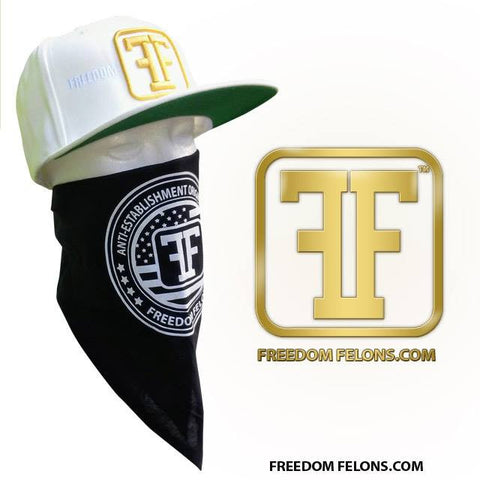 Gold on white Logo Snapback