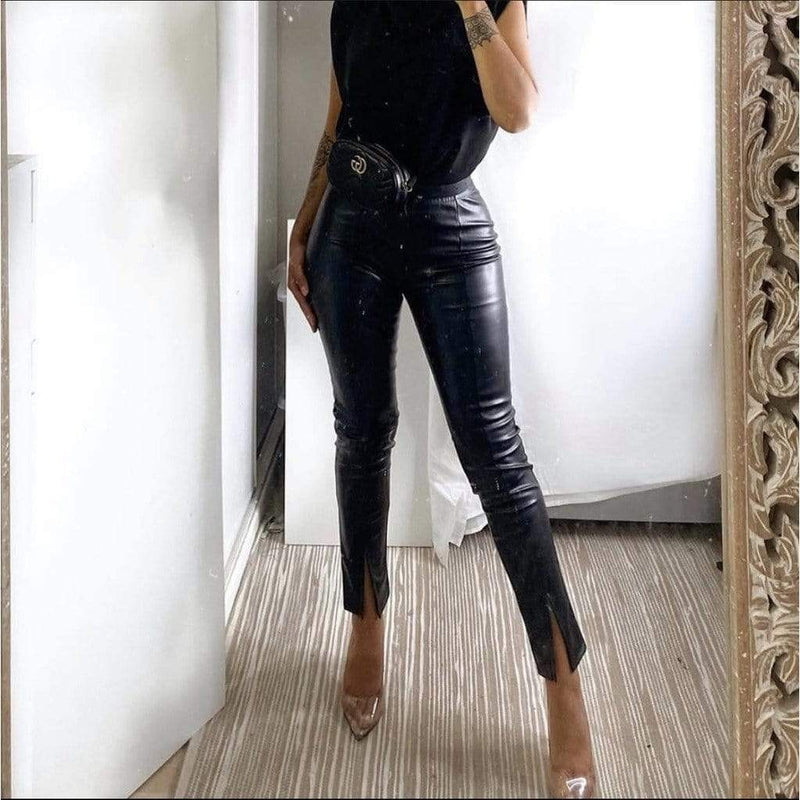 Hanora Fashion FRONT SPLIT PANTALON BLACK