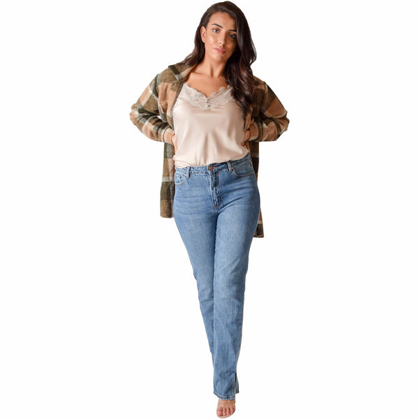 Hanora Fashion SPLIT BOYFRIEND JEANS