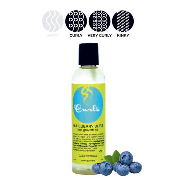 CURLS Blueberry Bliss Hair Growth Oil – Olej pro růst vlasů 120 ml