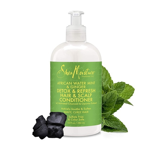 Shea Moisture African Water Mint and Ginger Detox & Refresh Conditioner – Detoxikační kondicionér 384 ml