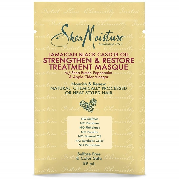 Shea Moisture Jamaican Black Castor Oil Strengthen & Restore Treatment Masque – Regenerační maska