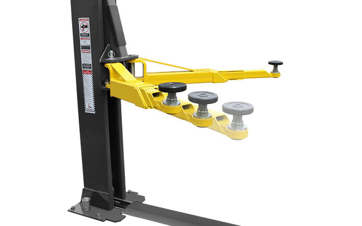 BendPak Car Lift XPR-9S-LP with Low-Profile Arms <p>Dual-Width / 9,000 Lb. Capacity / Floor Plate / Chain-Over / Short Lift</p>
