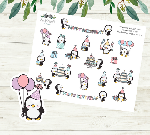 Birthday Sampler Planner Stickers