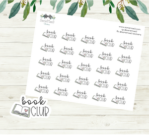 Book Club Planner Stickers