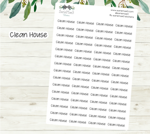 Clean House Planner Stickers (JenPlans)