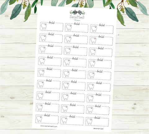 Dentist Appointment Planner Stickers