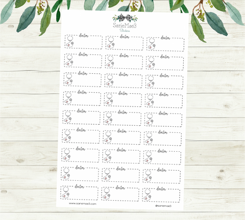 Doctor Appointment Planner Stickers