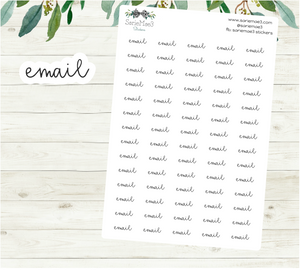 Email Planner Stickers (Hand Lettered Script)