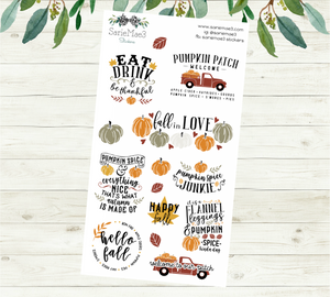 Fall Quotes Planner Stickers