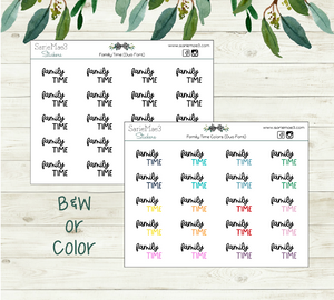 FamilyTime Planner Stickers (Duo Font)